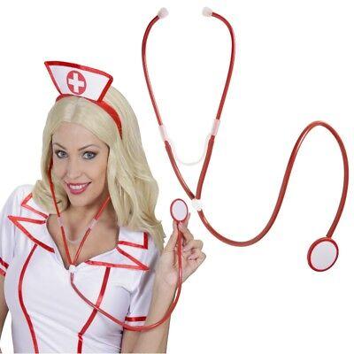 Stetoskop Stethoskop Rettungsdienst Arzt Sanitäter - Rot - Kostüm Zubehör - Rote Kostüm Zubehör