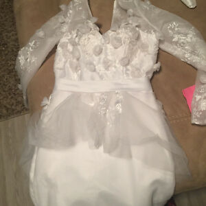 beautiful peplum custom dress- didnt fit so brand new