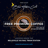 FREE Premium Coffee - Until April 30th - No Purchase Necessary!