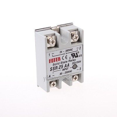 New Solid State Relay Module Ssr-25aa Ac-ac 25a 80-250vac24v-380vac