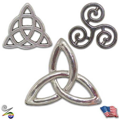 Triquetra Triskele Triskelion Trinity Pagan Celtic Wicca Christian Lapel Hat Pin