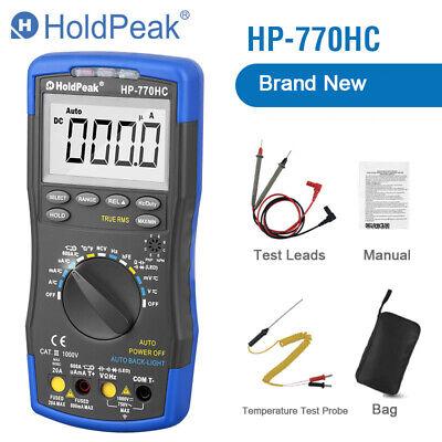 Mini Multimeter 1000v Dc Ac Voltage Current Tester True Rms Auto Range Portable