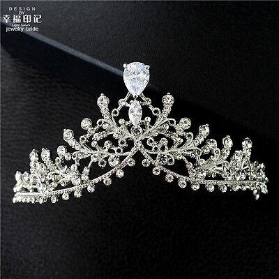 Cheap Crystal Wedding Bridal Hair Accessory Queen Tiara Crown Prom Headdress New - Cheap Tiaras
