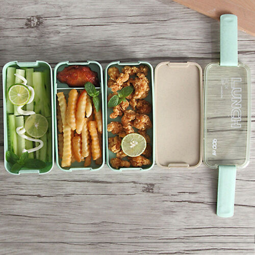 3 Tier Bento Lunch Box School Lunchbox Food Container for Ki