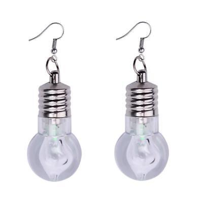 1Pair Fashion Women Light Up Earring LED Blinking Bulb Ear Hook Dangle Jewelry](Blinking Jewelry)