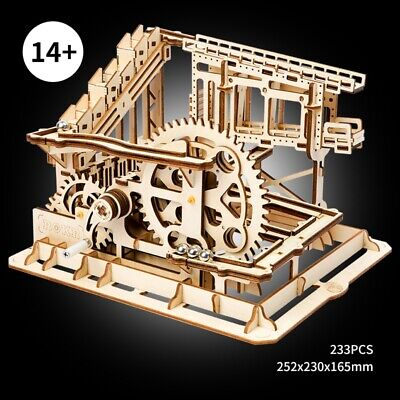 DIY Wooden Marble Run Race Construction Set  Building Toy for Adults Teens Kids