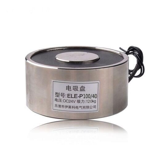 120kg 264LB DC24V 15W Electric Lifting Magnet Holding Electromagnet Solenoid