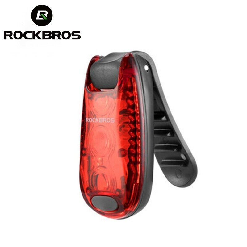 ROCKBROS Helmet Tail Back Light Led Rear Safety Warning Lamp Cycling