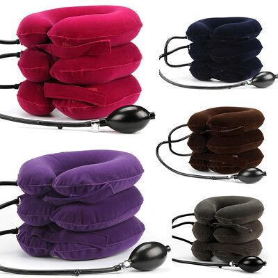 Full Velvet Neck Traction Device Household Medical Inflatable Collar Massager