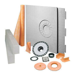 Schluter Systems 32in x 60in Kerdi-Shower Kit with Offset Drain