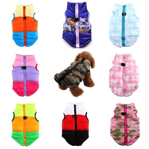 Winter Warm Pet Dog Cat Coat Jacket Puppy Clothing Apparel Costumes Christmas