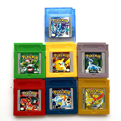 Pokemon Crystal Gold Silver Red Blue Yellow Green Gameboy