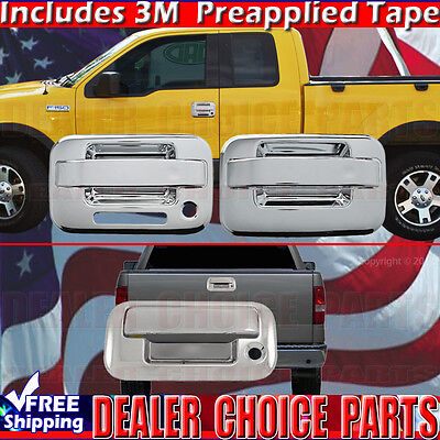 - 2004-2014 FORD F150 Chrome Door Handle COVERS (W/Keypad W/O PSK 2DR)+Tailgate