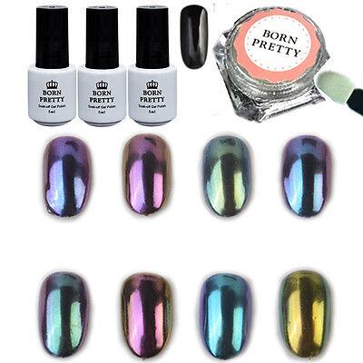 1g box holo nagel puder chrompuder chrompigmente regenbogen grau nail glitter ebay. Black Bedroom Furniture Sets. Home Design Ideas