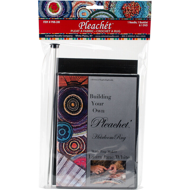Colonial Needle-Colonial Needle Pleachet Rug Needle, How-To Booklet & Dvd-
