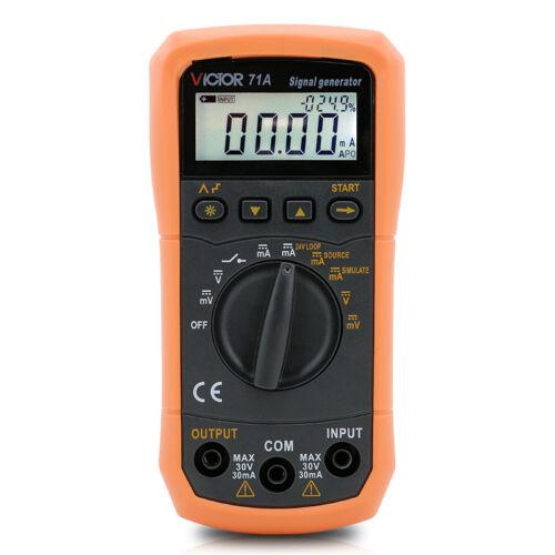 DC Voltage Current Signal Generator Source Simulator Meter 24V Loop Step Output