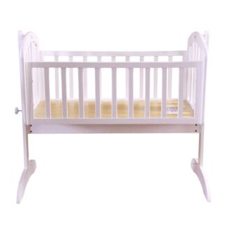 Baby Cradle Bassinet Wooden White+ Mattress Baby Swing Cot Ngunnawal Gungahlin Area Preview