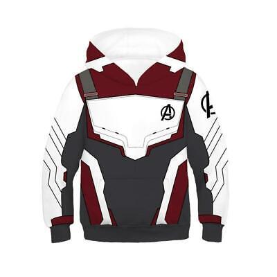 Kids Avengers 4 Endgame Quantum Realm Cosplay Hoodies Boy Sweatshirts Coat - Kids Avengers