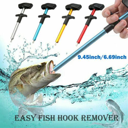24CM Fish Hook Remover Puller Fishing Tool T-Handle Extractor Tackles Detacher