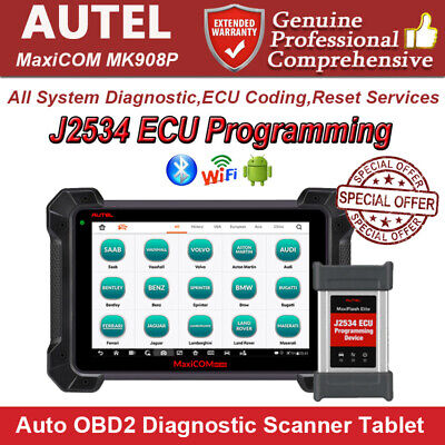 Autel MaxiCOM MK908P Auto Diagnostic Scanner ECU Key Programing  Live Data