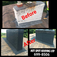 Chimney detailing by Hot Spot Roofing Ltd