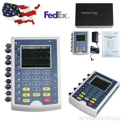Fda Multiparameter Patient Simulator Portable Touch Ecg Resp Temp 4-ibp Ms400