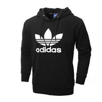 Brand New Adidas Hoodie Sweater Black White Logo M or L