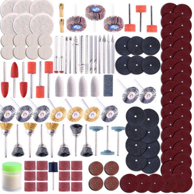 350 PC Dremel Rotary Tool Accessories Kit Sanding Cutting Gr