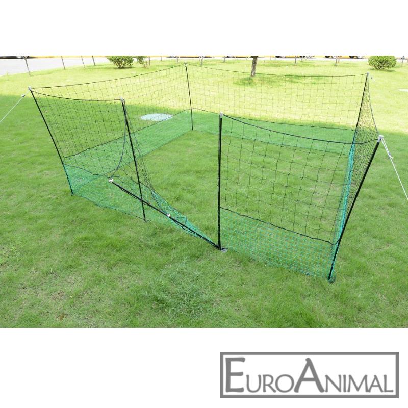 Hühnerzaun Katzenzaun Hundezaun Weidezaun 25 m DS grün elektrifizierbar Geflügel