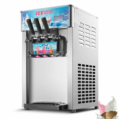 3 Flavors Commercial Soft Ice Cream Machine Ice Cream Cones Self Pick Up