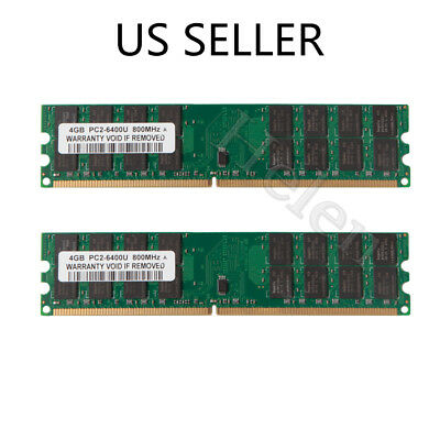 8GB 2X 4GB DDR2 800 PC2-6400 240Pin Destop Memory RAM Only For AMD Motherboard