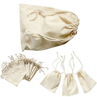 12pcs Mini Burlap Natural Linen Sack Jewelry Pouch Drawstring Spices Bags - Gift Sack