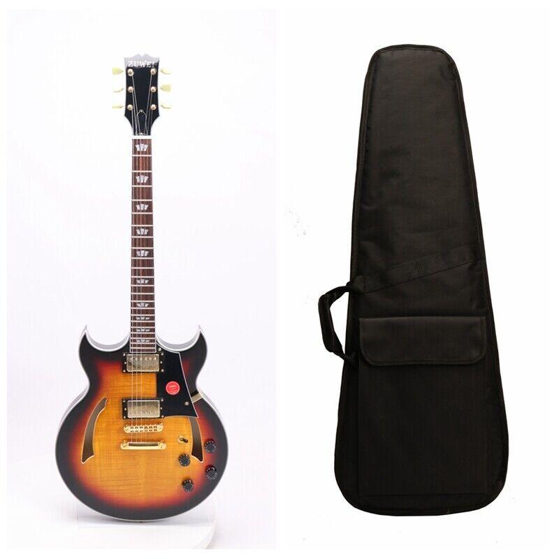 Semi Hollow Body Electric Guitar G-Byrdland Flame Maple Venner Include Gigbag