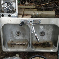 Small single sink and kitchen double sink