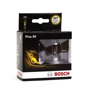 BOSCH-PLUS-90-H7-GLUHLAMPEN-GLUHBIRNEN-HALOGENLAMPEN-90-MEHR-LICHT-2ER-SET