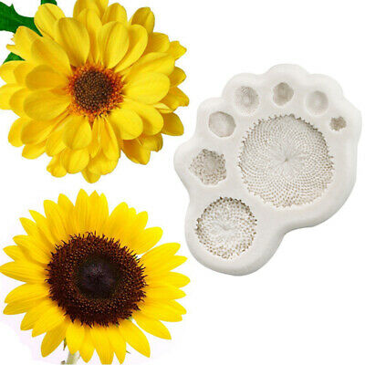 Sunflower Cake Decorations (Vivid Daisy Sunflower Stamen Silicone Mold Fondant Mould Cake Decorating Tool)