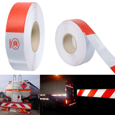 147ft 2 Vehicle Trailer Reflective Safety Warning Tape Fim Sticker Roll Strip