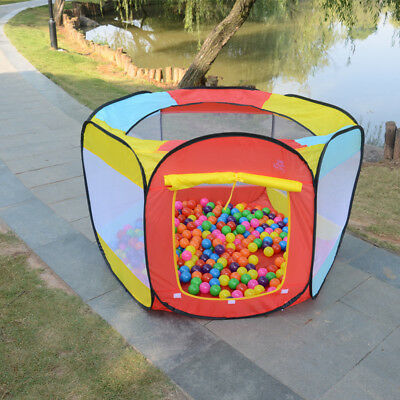 Hideaway House - Kids Play House Tent Indoor Outdoor Easy Folding Ball Pit Hideaway Play Hut BP
