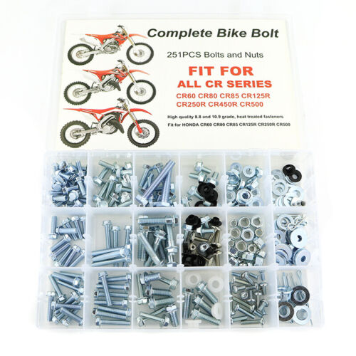 Honda CR125R 2001 stainless steel engine casing case cover motorcycle bolts kit