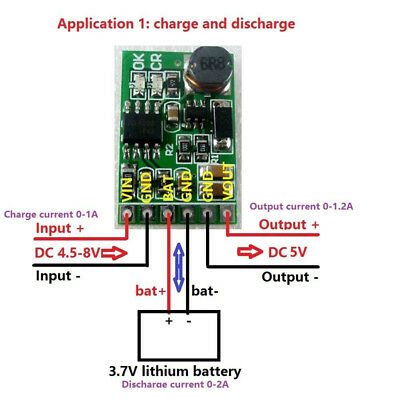 5v Ups Power Diy Board Charger Step-up Dc Dc Converter Module 3.7v Li-ion Lipo