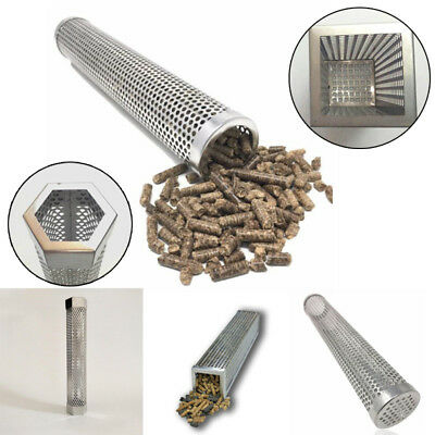 Perforated Stainless Tube (BBQ Stainless Steel Perforated Mesh Smoker Tube Barbecue Grill Smoke Filter)