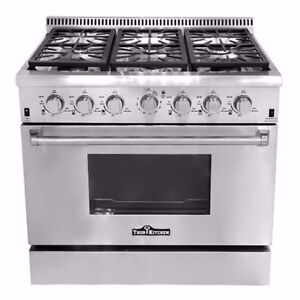 ⓈⒶⓋⒺ NEW THOR NATURAL GAS PROPANE STAINLESS STEEL OVEN RANGE 36