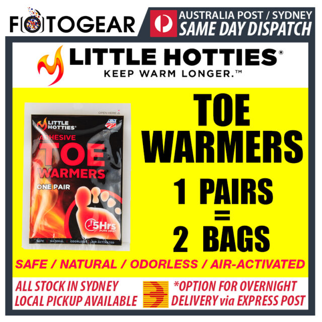 Little Hotties Toe Warmers 1 Pair Heat Pack 8 Hours Warmer Sport Hot Socks New