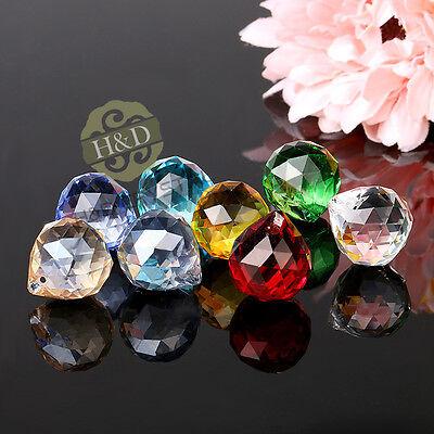 Set 8 Crystal Glass Chandelier Light Ball Prisms Suncatcher Drops Pendants 20MM