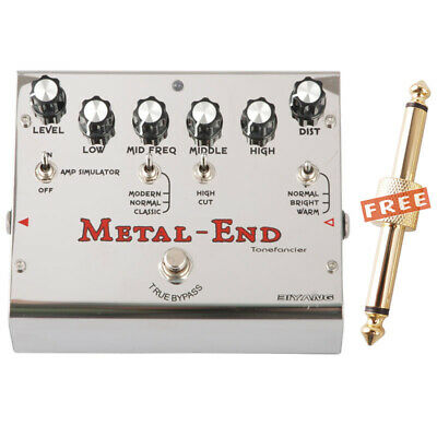 Biyang METAL END 18 Modes Versatile Distortion Amp Simulator Pedal with Coupler