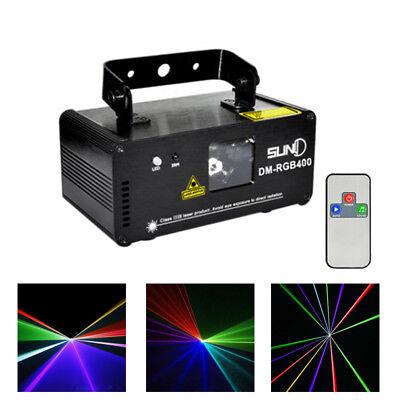 SUNY DMX Effect 400mW RGB Laser Lights Show DJ Music Gig Bar Party Disco Light 10 Gig Laser