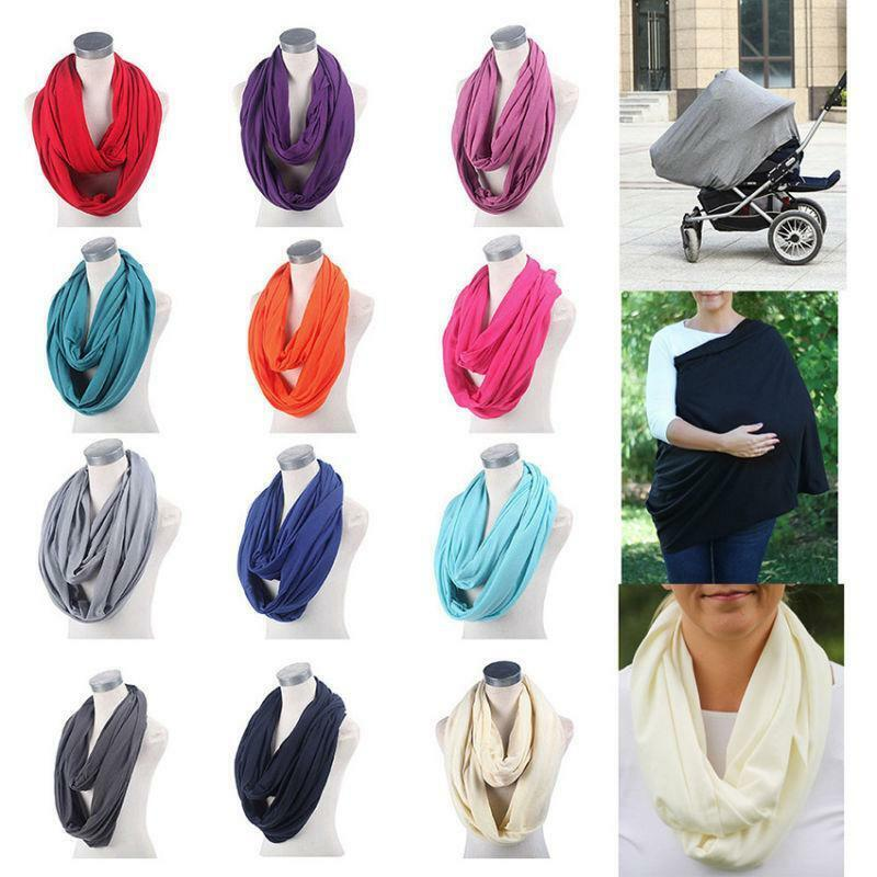 Mother Breastfeeding Cover Nursing Maternity Elastic Practical Shawl Towel Scarf