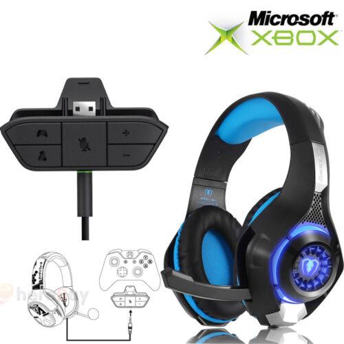 Audio Game Headset Headphone Stereo Adapter For Microsoft Xb