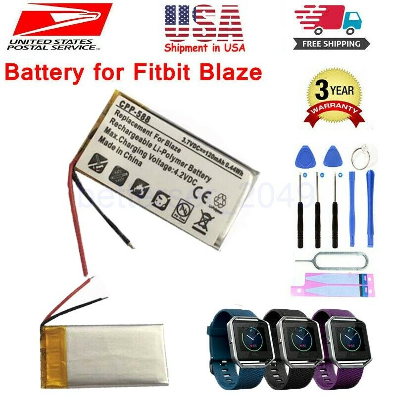 120mAh LSSP321830AE Battery Replacement for Fitbit Blaze Fitness Watch US Seller