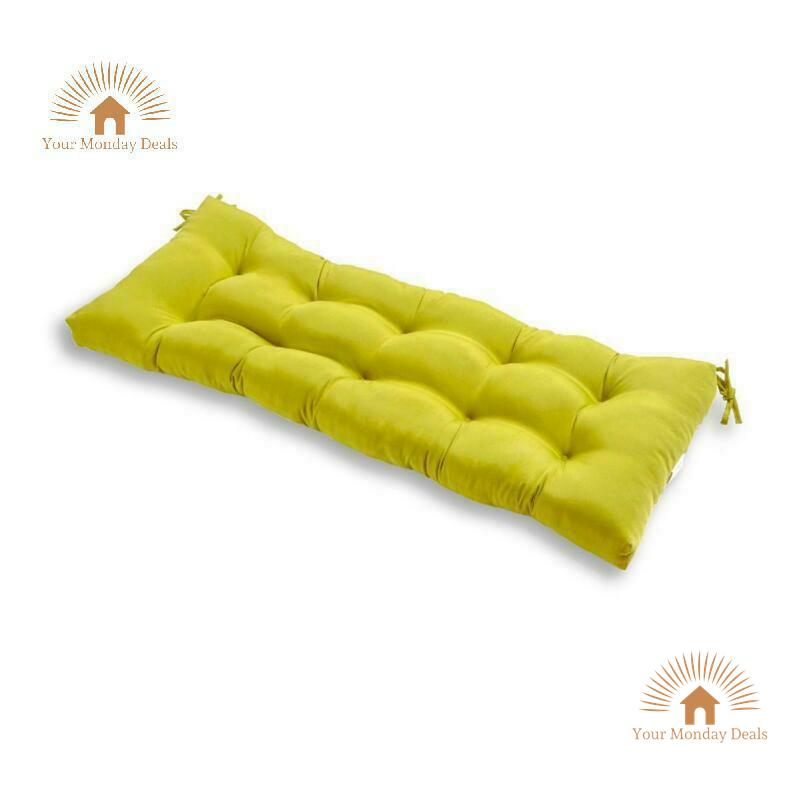 "Modern Outdoor Bench Cushion 51"" x 18"" Garden Patio Seat Pad"